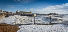 Danger zone (James Waghorn) Tags: winter sea england storm beach water pier nikon waves hastings eastsussex sigma1020f456 d7100 topazadjust