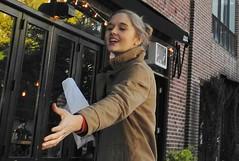 helping hand (omoo) Tags: newyorkcity girl westvillage streetscene blonde prettygirl afterschool greenwichvillage happygirl helpinghand hudsonstreet chaperone dscn6341 aftersnacks