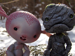 Friends (DoctorFomite) Tags: stone ball doll dolls o sprite will bjd wisp nympheas jointed willowisp nympheasdolls titherbe