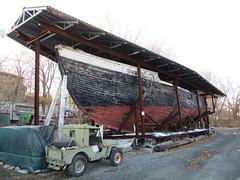 Fishing trawler Evelina M. Goulart hull (Joel Abroad) Tags: museum wooden fishing massachusetts hull essex schooner trawler 1927 shipbuilding dragger evelinamgoulart storyshipyard