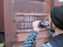 action (Kaliningrad Monikers) Tags: jon action russia freight 2014 moniker boxcarart