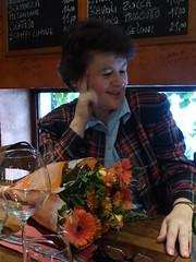 A bunch of flowers too (egf _fem) Tags: brussels flower lunch restaurant italian belgium rosa fem farewell bistra egf lamamma