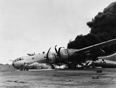 WWII Asia Volcano Island Iwo Jima    US Air Force (frankanthony802) Tags: aeroplane burning flame transportation and jpn disasters misfortune emergencies
