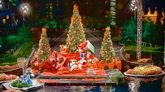 Penciled Christmas Scene (Kevin MG) Tags: usa losangeles downtown dtla light trees ornaments night california christmas holiday