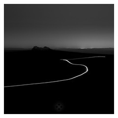 Darkmoor (picturedevon.co.uk) Tags: longexposure winter bw night landscape blackwhite nationalpark darkness fineart headlights devon le lighttrails monochrom dartmoor minimalist haytor wwwpicturedevoncouk createdbydavidhixon