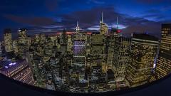 Friday Night Lights (gimmeocean) Tags: nyc newyorkcity ny newyork skyline cityscape manhattan fisheye empirestatebuilding 8mm 8mmfisheye bower8mmfisheye