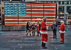 Times Square (nyperson) Tags: christmas street newyorkcity santas timessquare santacon 2014