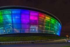 sse hydro | glasgow. (alyssaBLACK.) Tags: longexposure nightphotography lights scotland glasgow sony sonya7 ssehydro
