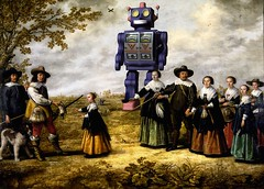 Albert-Cuyp Family with Robot