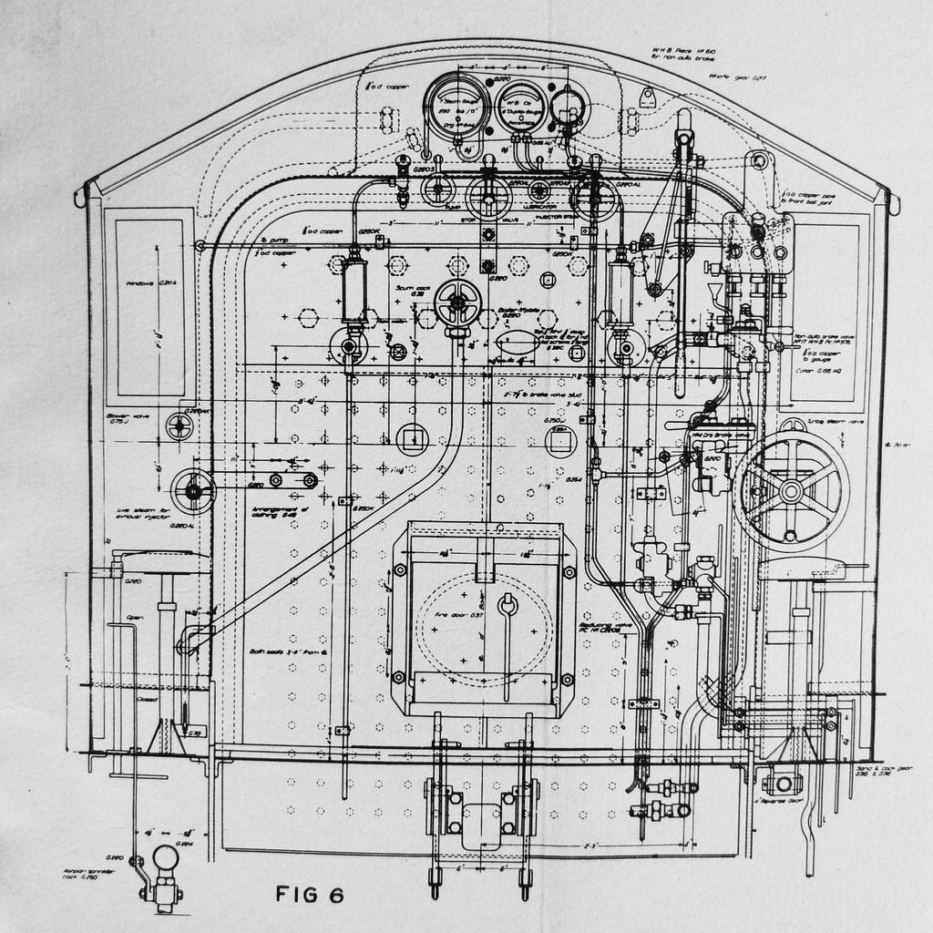 ASG Cab Controls (Leonard J Matthews) Tags: train cab engine australia  steam diagram