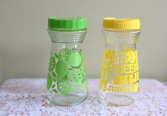 Lemon and Lime Juice Carafs (Playin Jayne) Tags: summer glass vintage lemon lemonade retro citrus lime cocktails pitcher carafe