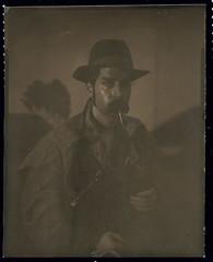 cowboy 1 0002 (tobias feltus) Tags: portrait selfportrait self cowboy ilford speedgraphic directpositive caffenolc harmandp