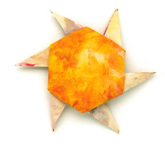 Fujimoto hexagone Rosette 06 front (Pliages et vagabondages) Tags: origami rosette fujimoto hexagone