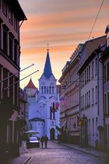 216113411528228 (alleyntegtmeyer7832) Tags: street travel sunset vertical europe cathedral latvia riga baltics