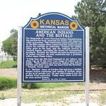 Kansas Historical Marker - American Indians and the Buffalo thumbnail