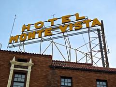 Hotel Monte Vista, Flagstaff, AZ (Robby Virus) Tags: arizona sign hotel route66 downtown neon historic haunted flagstaff signage vista ghosts monte