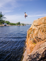 Cliff Jump 3 (dan sedran) Tags: cliff ontario water landscape island jumping georgianbay adventure explore