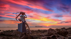 Colours of the Wind (Ateens Chen) Tags: longexposure sunset sea portrait people cloud landscape hongkong nikon alter afterglow ateens tiltshiftphotography takamachinanoha d700 pcenikkor24mmf35ded 17scalefigure