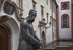 the illuminator (cherryspicks (intermittently on/off)) Tags: travel sculpture building art rain architecture croatia historic zagreb illuminator jurajklovic