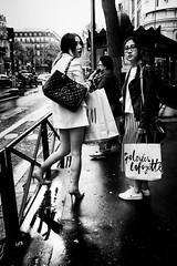 People in the street (KATANGA67) Tags: people urban bw paris contrast photography photo blackwhite fuji photographie noiretblanc photos nb parisienne photographies x100 parisiens fujifilmx100 fujix100