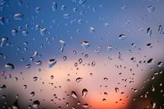 Here Comes The Rain Again (kareszzz) Tags: sky storm macro window rain weather contrast evening drops spring hungary colours dof sundown sony details budapest may raindrops 1855 raindrop 2016 nex3 sonynex3