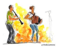 Duo Ki s'Lach (Tineke Lemmens) Tags: music accordion clarinet