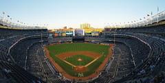 Stadium Warmups (lozadae12) Tags: ny newyork stadium panoramic thebronx yankees yankeestadium newyorkyankees mlb majorleaguebaseball vsco