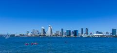 San Diego skyline from coronado island ($ Abhijit $) Tags: blue sea sky water skyline canon island san diego tokina coronado abhijit
