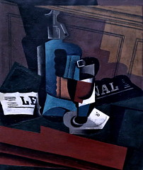 IMG_6194 Juan Gris. 1887-1927. Syphon, verre et journal.  Syphon, Glass and Newspaper. 1916.  Cologne.  Muse Ludwig. (jean louis mazieres) Tags: museum germany painting deutschland cologne kln muse museo allemagne peintures peintres juangris ludwigmuseum museludwig