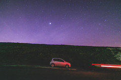 Under Jupiter (Tim Bow Photography) Tags: longexposure nightphotography car wales night photography photo hill astro british welsh jupiter starry lightstream starryskies timbowphotography astrophotographywales nightscapewales beautifulwelshphotography