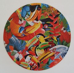 COLORFUL BUTTERFLIES (pattakins) Tags: fun colorful bright butterflies puzzle round jigsawpuzzle 350piece 14inchdiameter