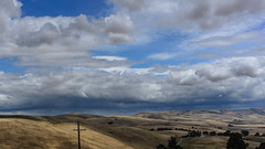 Driveby Landscape (tourtrophy) Tags: clouds thunderstorm livermore trivalley darkclouds vascoroad nikoncoolpixa