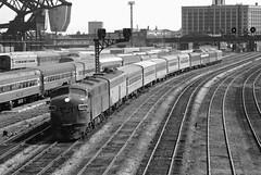 Amtrak - 12th Street (d.w.davidson) Tags: railroad chicago train amtrak 1970s gmo e7 streamliner