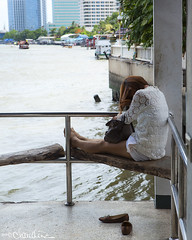 (by claudine) Tags: sleeping people thailand nap bangkok culture thai napping customs chaophrayariver travelphotographyworldphotosuniquebyclaudine