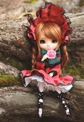 a little break in the woods (e f i c h u ) Tags: new green animal ginger eyes doll wig pullip cherie sbhs shinku obitsu 27cm rewigged rechipped leekeword royalcarrot efichu