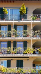 Balconies and Flora - Lecco - Lake Como (Gilli8888) Tags: flowers windows italy lake buildings flora lakecomo lombardia portals lecco lombardy balconiesgeometric