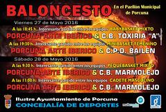 CARTEL ESCUELAS DEPORTIVAS 27 Y 28 MAYO BALONCESTO (M. Jaln) Tags: deporte porcuna baloncesto partidos arte ibrico equipo escuela