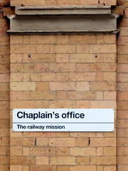 Chaplain's office (the Magnificent Octopus) Tags: york station sign design br rail signage british alphabet