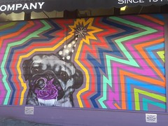 pug (spoonspud) Tags: street art mural streetart sanfrancisco sf pug puglife cupcake cupcakes rainbow rainbows murals painting birthday