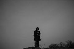 "Woman on a Hill (Santos ""Grim Santo"" Gonzalez) Tags: blackwhite canoneosrebelt3i cellphone centralpark gothamist grimsanto hill manhattan manhattanbridge nyc newyorkcity night nightshot phone sigma30mmf14exdchsm streetphotography streettog"