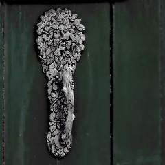 Knocker 19 (vague_logic) Tags: craft somerset metalwork knocker greenman roadwater