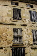 cracks and shutters (PDKImages) Tags: old windows france church monochrome beauty abbey architecture ginger curves bordeaux shutters balconies stemillion brantome