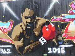 UK - London - East London - Spitalfields - Street art - Muhammad Ali (JulesFoto) Tags: uk england london eastlondon clog centrallondonoutdoorgroup streetart mural graffiti spitalfields muhammadali