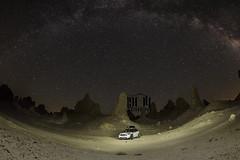 Trona Pinnacles (1904 Photography) Tags: california road trip sky night way stars highway long exposure mini southern milky pinnacles 395 trona countryman