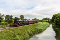 (Articdriver) Tags: summer water canal transport trains steam locomotive wiltshire railways lms crofton royalscot kennetavoncanal bedwyn 46115 scotsguardsman