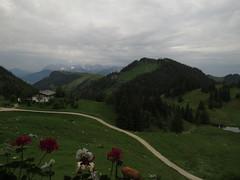 Next day: a gloomy morning (aniko e) Tags: summer mountains rain weather clouds cows hiking htte geraniums dav wilderkaiser geigelstein chiemgau chiemgaueralpen prienerhtte