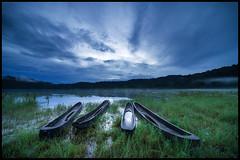 Almost Dried (jenkwang) Tags: bali lake sunrise landscape boats pentax canoes k1 tambalingan