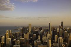 Glare free (aerojad) Tags: sunset chicago hancockbuilding skyline lakemichigan 360chicago