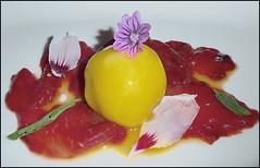 Sorbetto su anguria sciroppata (ninin 50) Tags: dessert compleanno ninin osteriamistral