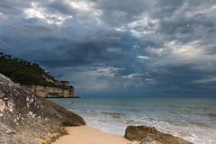 Bad weather is coming... (stefanromen) Tags: italien sea italy beach nature weather strand landscape meer italia mare natur landschaft puglia badweather wetter peschici apulien